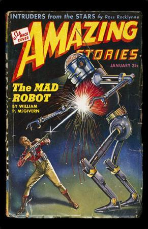 January 1944 -Amazing Stories -Mad Robot
