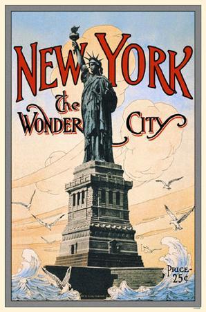 New York the Wonder City Statue of Liberty
