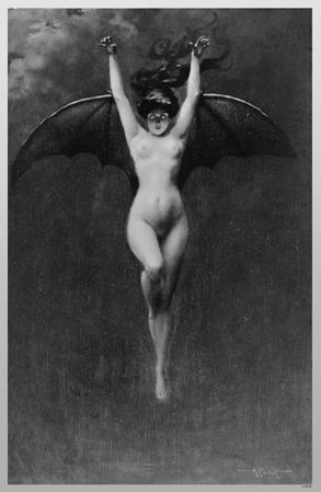 Nude Demon Woman with Wings