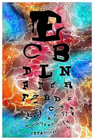 Psychedelic Eye Chart