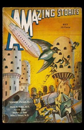 May 1932 -Amazing Stories -Robots vs Birds