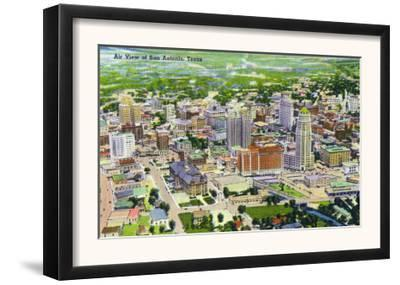 San Antonio, Texas - Aerial View of the City, c.1945