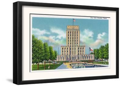 Houston, Texas - Exterior View of City Hall, c.1948