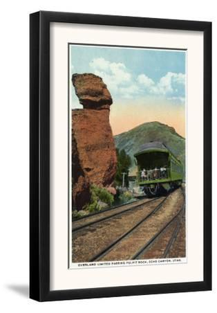 Echo Canyon, Utah - Overland Limited Train Passing Pulpit Rock, c.1917