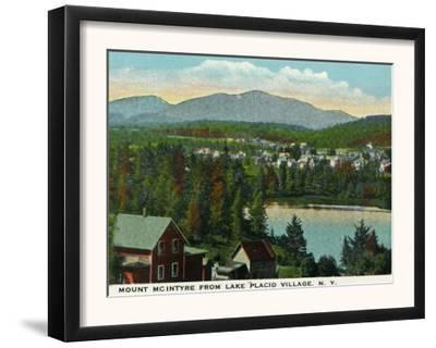 Lake Placid, New York - View of Mount Mcintyre from the Village, c.1916