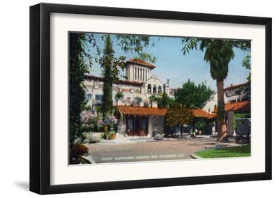 Riverside, California - Exterior View of Glenwood Mission Inn from the Courtyard, c.1915