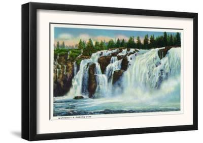 Oregon City, Oregon - View of the Waterfalls, c.1936