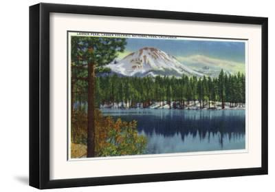 Mount Lassen Nat'l Park, California - View of Mt. Lassen from Lake, c.1940