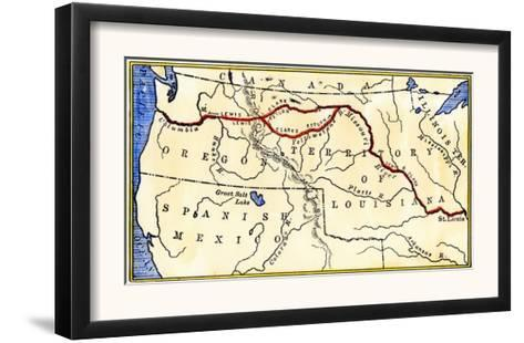 image about Lewis and Clark Printable Map called Map of the Lewis and Clark Path throughout Louisiana Territory, c.1804-1806