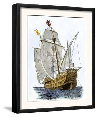 Caravel Santa Maria, the Flagship of Columbus' First Voyage