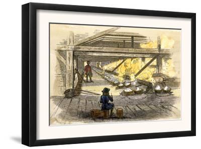 Interior View of the Salt-Works in West Virginia, c.1850