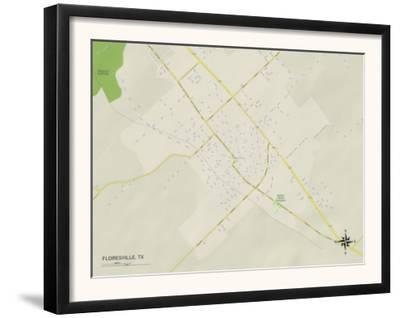 Political Map of Floresville, TX