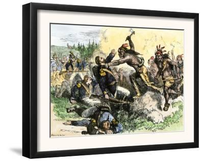 Native Americans Attack the American Garrison at Fort Dearborn in Illinois during the War of 1812