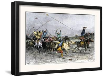 Mongol Warriors Showing their Horsemanship to the Chinese Forces of Hung-Wu