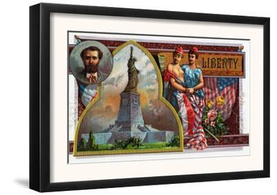 Liberty Brand Cigar Box Label, View of the Statue of Liberty