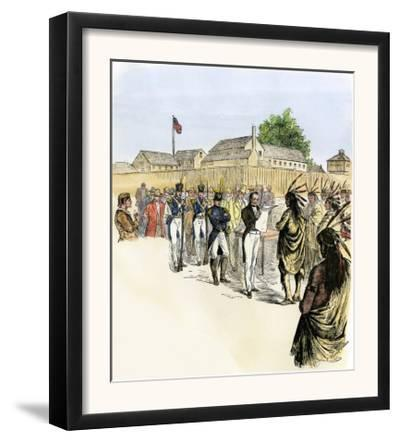 Pottawattomies Agreeing to a Treaty at Fort Dearborn, Chicago, 1833