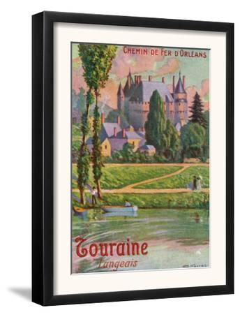 Touraine, France - Scenic View of a Castle, Orleans Railway Postcard, c.1909