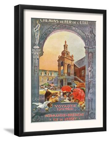 France - Trips to Normandy, Brittany, and Isle of Jersey, Market Square, State Railways, c.1920