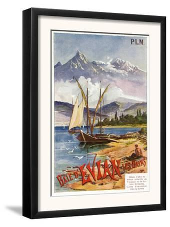 Avian-Les-Bains, France, Scenic View of Lake Geneva, Paris, Lyon, and La Mediterranee Railway, 1920