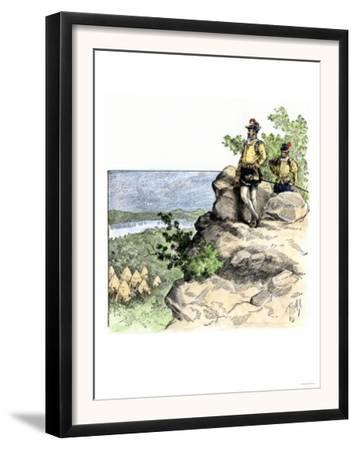 Jacques Cartier on the Summit of Mont Real, Now Montreal, Canada, c.1535