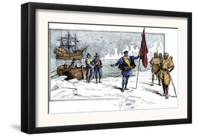 English Explorer John Cabot Landing on the Shore of Canada, c.1484