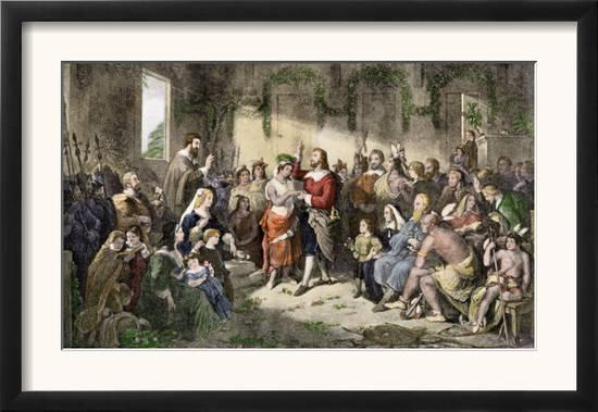 Marriage Of Pocahontas To John Rolfe Jamestown Colony 1614 Prints