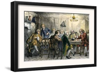Samuel Johson and James Boswell at the Literary Club, London, 1700s