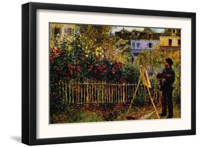 Monet Painting In His Garden In Argenteuil