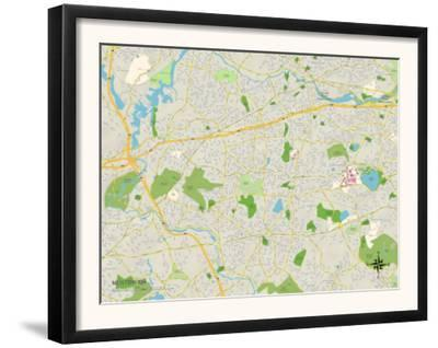 Political Map of Newton, MA