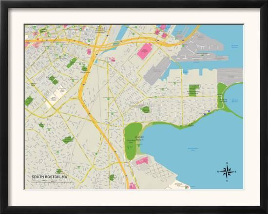 Political Map of South Boston, MA on map of metro boston ma, map of streets north adams, map of mass coastline, map of so shore ma, map of ri and ma,