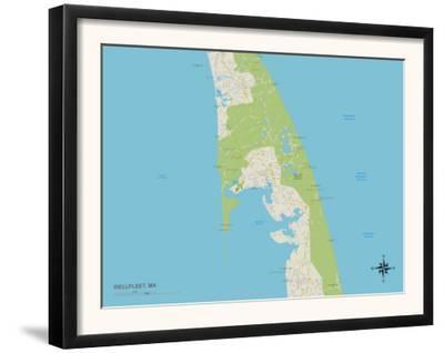 Political Map of Wellfleet, MA