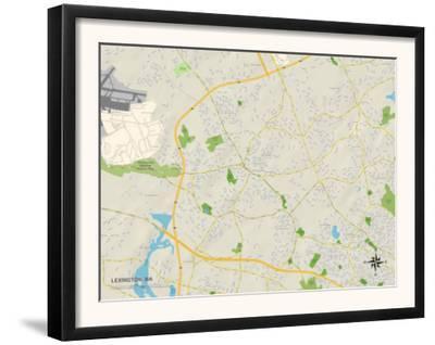 Political Map of Lexington, MA