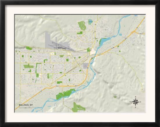 Political Map of Billings, MT