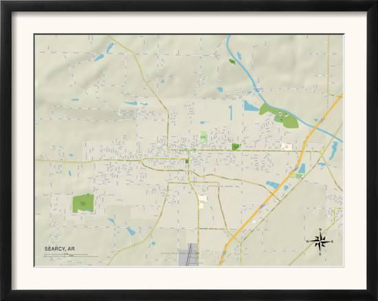 Political Map of Searcy, AR Art at AllPosters.com