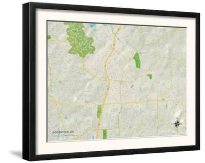 Political Map of Woodstock, GA