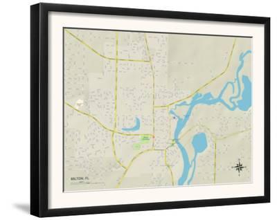 Political Map of Milton, FL