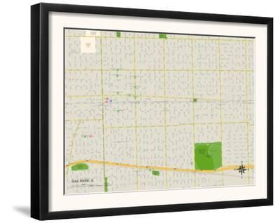 Political Map of Oak Park, IL