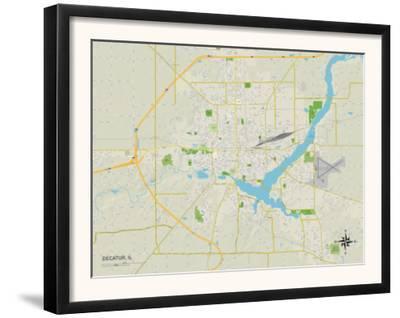 Political Map of Decatur, IL