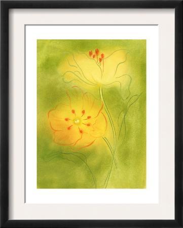 Stylized Yellow Flowers