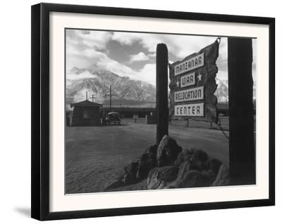 Entrance to Manzanar Relocation Center