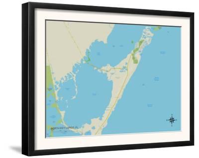 Political Map of North Key Largo, FL