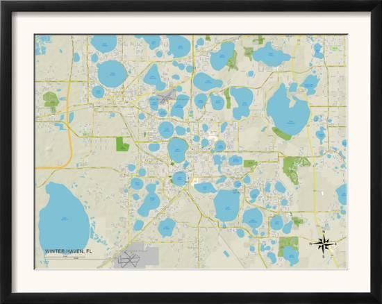 Political Map of Winter Haven, FL
