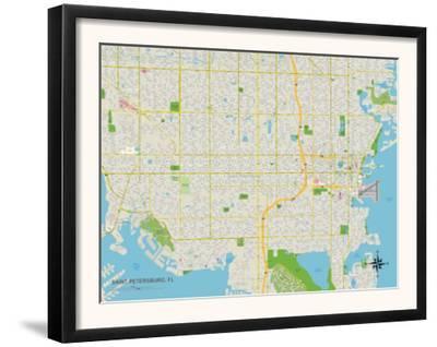 Political Map of Saint Petersburg, FL