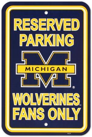 University of Michigan Parking Sign