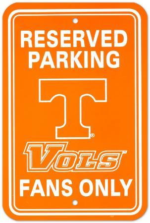 NCAA University of Tennessee Parking Sign