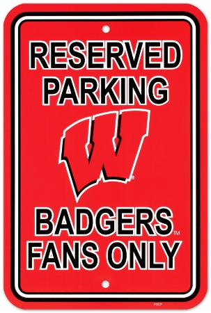 University of Wisconsin Parking Sign