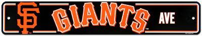 San Francisco Giants Street Sign
