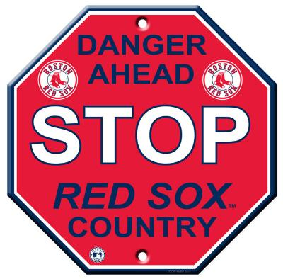 Boston Red Sox Stop Sign