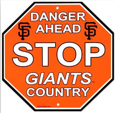 San Francisco Giants Stop Sign