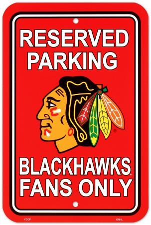 Chicago Blackhawks Parking Sign